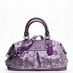 New !!!! Coach Ashley Signature Large Satchel - Violet - Style