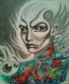 Alien/fantasy art/watercolors