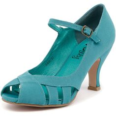 I Love Billy Ravi Aqua ($67) ❤ liked on Polyvore featuring shoes, party shoes, synthetic shoes, leather footwear, genuine leather shoes and synthetic leather shoes