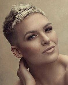 Today we have the most stylish 86 Cute Short Pixie Haircuts. Pixie haircut, of course, offers a lot of options for the hair of the ladies'… Continue Reading → Super Short Hair, Short Grey Hair, Short Hair Cuts, Pixie Cuts, Buzzed Pixie, Shaved Pixie Cut, Undercut Hairstyles, Funky Hairstyles, Sassy Hair