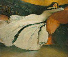 John White Alexander  (1856-1915) Oil on canvas