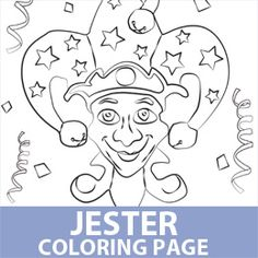 find this pin and more on mardi gras mardi gras jester coloring pages
