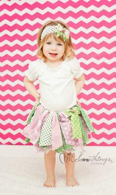 Fabric Tutu, Pink and Green Shabby Chic Tutu, Baby Tutu, Photo Prop Tutu, Childrens Toddler Infant Tutu, Birthday Tutu SUMMER WATERMELON on Etsy, $30.00