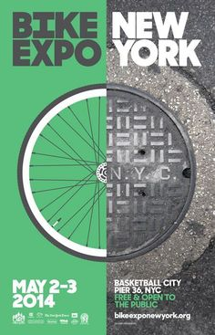 Professional design work from great designers | Cool Graphic Design, New York Bike Expo. #graphicdesign #poster [http://www.pinterest.com/alfredchong/]