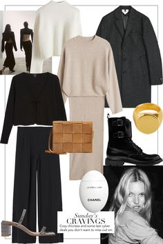 fashion collage Sundays Cravings: Cozy Chicness and the last Cyber Deals teetharejade Mode Outfits, Chic Outfits, 90s Fashion, Fashion Outfits, High Street Fashion, Fashion Weeks, London Fashion, Looks Chic, Fashion Collage