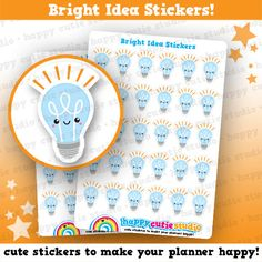 30 Cute Bright Idea/Light Bulb/Idea Planner by HappyCutieStudio