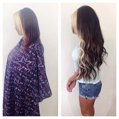 Before and After with Extensions- this is why we love hair extensions <3