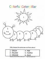 Caterpillar Coloring Pages Printable Preschool Preschool Colors, Numbers Preschool, Preschool Printables, Preschool Worksheets, Preschool Learning, Preschool Activities, Color Activities, Toddler Activities, Coloring For Kids