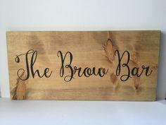 Wood Sign  Salon Station Decor  The Brow Bar  by HouseOfJason