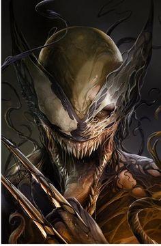 Venom ComicXposure Exclusive Variant Cover by Francesco Mattina_Wolverine Simbiote Venom Comics, Venom Art, Marvel Venom, Marvel Vs, Marvel Dc Comics, Marvel Heroes, Captain Marvel, Superhero Villains, Avengers