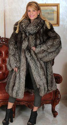Silver Fox Fur Coat Silberfuchs Pelz Mantel Fourrure Renard Pelliccia Volpe Mex | eBay