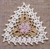 #507 Triangulo a Crochet o Ganchillo