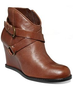 Me Too Breanna Wedge Booties - Shoes - Macy's...casually cute and on sale but they don't have my size.