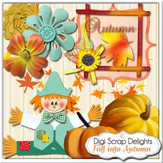 Fall into Autumn Owls Scrapbook Kit Owl by DigiScrapDelights  #scrapbooking #decoration #decor #organization  #digital #papers #autumn #thanksgiving #fall #printable