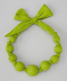 Do --- Look at this #zulilyfind! Grass Polka Dot Beaded Necklace by Sophie Catalou #zulilyfinds