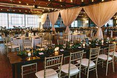wedding receptions - photo by W&E Photographie http://ruffledblog.com/modern-industrial-atlanta-wedding
