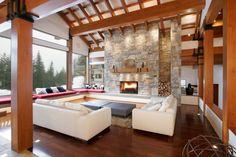Resultado de imagen para pinterest diseño de interiores de living de cabañas de sierras