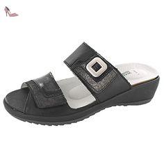 WALDLÄUFER GINGER 225501301001 femmes Sandales, noir 36 EU - Chaussures waldlufer (*Partner-Link)