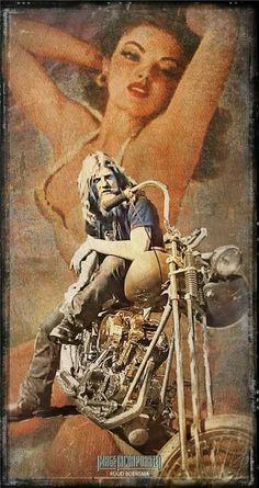 Awesome Art by Dutch Artist Ruud Boersma Harley Davidson Wallpaper, Harley Davidson Art, Harley Davidson Motorcycles, Harley Bikes, Motorcycle Posters, Motorcycle Art, Bike Art, Happy Birthday Biker, David Mann Art