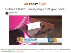 Bobbie Thomas featured the Avon Foundation's #BreastCancer Crusade watch on the fourth hour of the @Teresa Selberg Selberg Selberg Selberg Selberg Selberg O'Day Show with Kathie Lee & Hoda during a segment highlighting beauty buys that give back! Shop for Avon online at http://eseagren.avonrepresentative.com