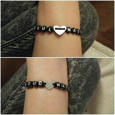#Soulmate #heart #Armband# #Perlen #seelenverwandte #Geschenk #Diy
