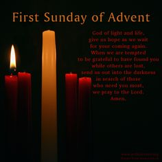 Prayer for the First Sunday of Advent.