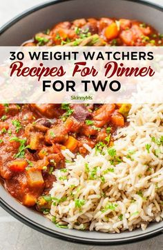 These 30 different amazing Weight Watchers Recipes for Dinner for Two make it easier to cook a deliciously healthy dinner that doesn't create leftovers. Recipes for 2 30 Weight Watchers Recipes for Dinner Plats Weight Watchers, Weight Watchers Meal Plans, Weight Watchers Snacks, Weight Watcher Dinners, Weight Loss Meals, Weight Watcher Recipes, Weight Watcher Breakfast, Weight Watchers Recipes With Smartpoints, Weight Watchers Freezer Meals