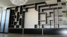 modular tetris shelving stacked
