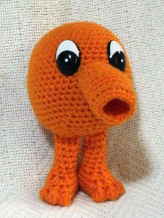 Q*bert, crochet amigurumi plush toy by SeaKnightsCraft on Etsy