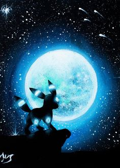 Shiny Umbreon under the moon painting cm Canvas Pokemon Umbreon, Umbreon And Espeon, Eevee Evolutions, Bulbasaur, Umbreon Wallpaper, Cute Pokemon Wallpaper, Cartoon Wallpaper, Pokemon Fan Art, Dark Type Pokemon
