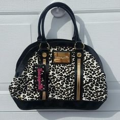 Betsey Johnson purse Bowling bag shape.  Never used.  NWOT Betsey Johnson Bags Mini Bags
