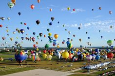 408 hot air balloons take to the sky in France to break the world record of 343 set just days earlier.