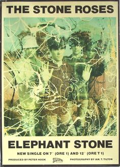 The Stone Roses - Ian Brown Alternative Rock Music Poster Tour Posters, Band Posters, Music Posters, Rock N Roll, Stone Roses, Music Artwork, Indie Music, Popular Music, Concert Posters