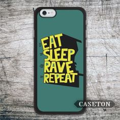 Eat Sleep Rave Repeat Quote Case For iPhone 7 6 6s Plus 5 5s SE 5c and For iPod 5 High Quality Cover Global Wholesale //Price: $US $2.99 & FREE Shipping //     #ipad