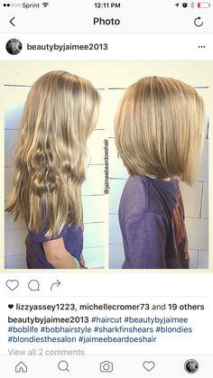 Little girls haircut from long locks to shoulder length bob