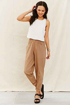 Mixed Business X Urban Renewal Linen Pant - Urban Outfitters