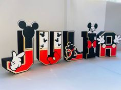 Mickey Mouse Letters, Minnie Mouse, Mickey Mouse Clubhouse, Disney Mickey Mouse, Mickey First Birthday, 10th Birthday Parties, 2nd Birthday, Birthday Treats, Baby Baby