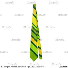 Shop BG Stripes Pattern colored V + your background Tie created by EDDArtiful. Wide Stripes, Custom Ties, Neckties, Unique Image, Wedding Color Schemes, Nice, Pattern, Prints, Design
