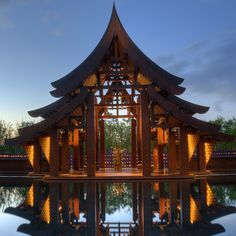 Ritz-Carlton Krabi by chris.0611, via Flickr Timber Architecture, Asian Architecture, Tropical Architecture, Amazing Architecture, Contemporary Architecture, Architecture Details, Roof Design, House Design, Cabana