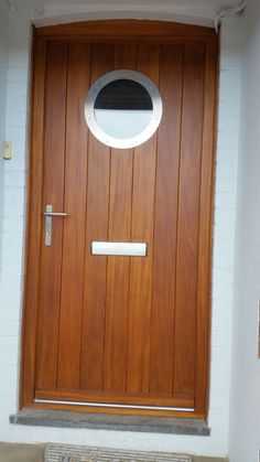 Merveilleux Hardwood Door U0026 Frame With Stainless Steel Porthole