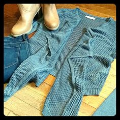 Sale!! Open Front  Cardigan Slate blue/gray  Abercrombie & Fitch open front cardigan. Color really depends on the lighting. Sometimes it looks more blueish, sometimes more grayish. Excellent condition- no stains, rips or pulls. Abercrombie & Fitch Sweaters Cardigans
