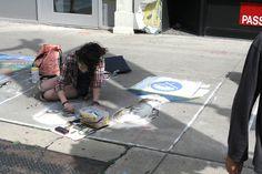 Buffalo Gothic Chalk Art, Art Festival, Buffalo, Gothic, Goth, Water Buffalo, Goth Style