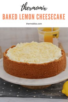 A simple and delicious Thermomix Baked Lemon Cheesecake.. the perfect dessert for any occasion!