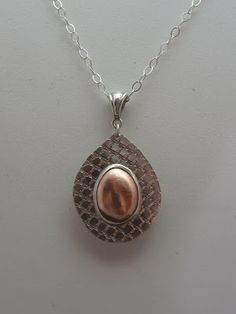 """""""Camille"""" - (side 2) Sterling & Fine Silver with a Shibuichi Ingot"""