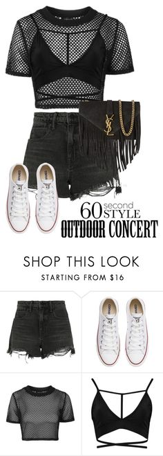 """""""Jon Bellion Pt III"""" by jloveespinal ❤ liked on Polyvore featuring Alexander Wang, Converse, Topshop, Boohoo, Yves Saint Laurent, 60secondstyle and outdoorconcerts"""
