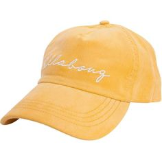 Billabong Women's Gnarly Set Baseball Hat ($23) ❤ liked on Polyvore featuring accessories, hats, gold dust, vintage snapback, adjustable baseball hats, corduroy hat, adjustable baseball cap and vintage snap back hats