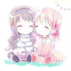 Homura and Madoka || Madoka Magica