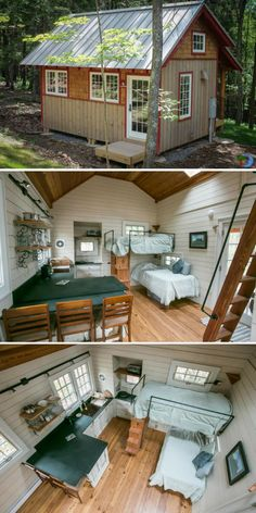 Skyeia Tiny House Cabin // Small house plans, tiny house plans, small bathroom ideas, small living r Tiny House Loft, Tiny House Living, Tiny House Design, Small House Plans, Small Living Rooms, Tiny Cabin Plans, Off Grid Tiny House, Modern Living, Tiny House Bathroom