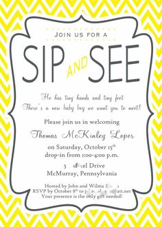 Sip & See Shower Party Ideas on Pinterest | Sip And See ...