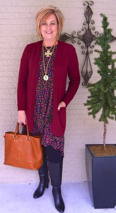 50 IS NOT OLD | LULAROE AND LEGGINGS | Carly Dress | Fall Outfit | Date Night | Fashion over 40 for the everyday woman